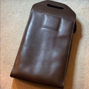 Mulholland leather double wine bag